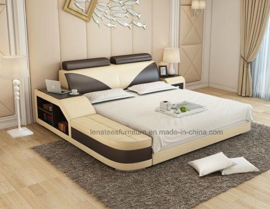 Lb8817 Nouveau modèle de stockage de meubles de chambre à coucher avec lit  têtière réglable