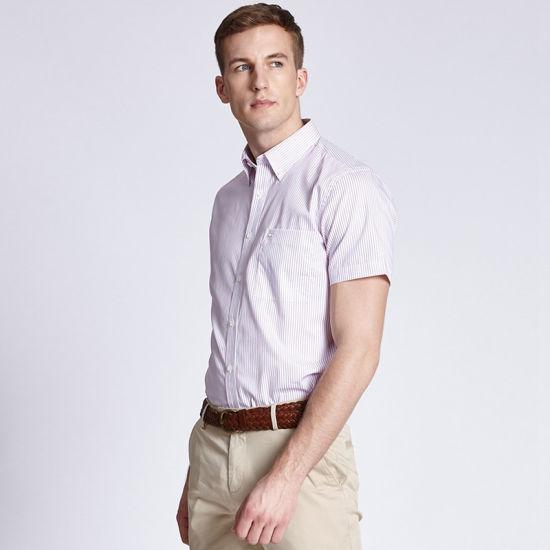 timeless design f60f5 c94ed Niedriger Preis-Geschäfts-Kleid-Mann-Hemd-Kurzschluss-Hülsen-beiläufiges  Mann-Hemd für Verkauf
