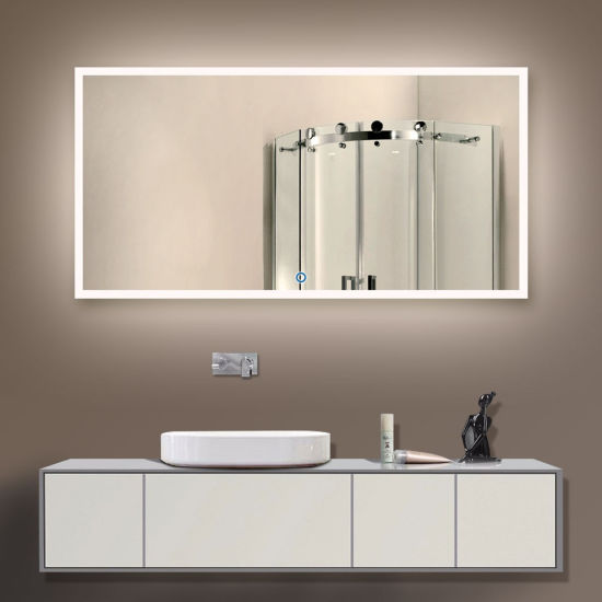 Custom nosotros Hotel cuarto de baño sin cerco iluminado LED Espejo  retroiluminado.