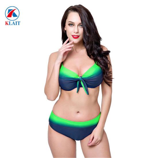 siempre popular personalizadas buscar original Plus Size brasileño Chica Sexy mujeres gordas Brakini trajes de baño de dos  piezas