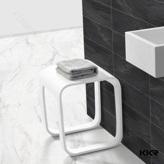 Chine Salle de bains Surface solide tabouret de douche en ...