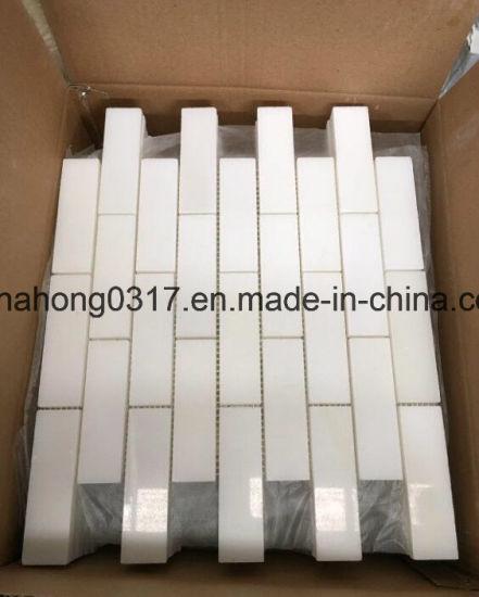 Weißes Marmor-/Granit-Mosaik für  Wand-/Küche-/Fußboden-/Badezimmer-Fliese-Mosaik