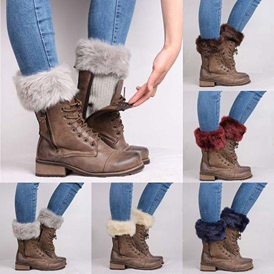 reputación confiable zapatos para correr numerosos en variedad La mujer Soft Faux Fur manguitos de calentadores de pierna acolchados  calcetines de inicio