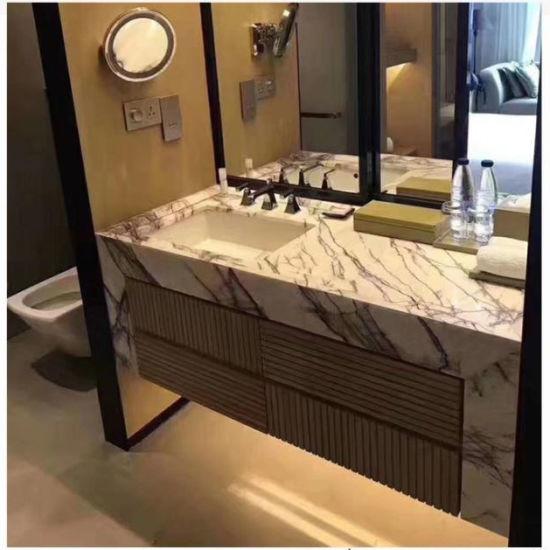 Chine Salle de bains en marbre pierre lilas dalles de pierre ...
