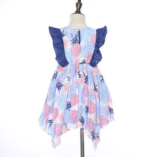 Chine L Ananas Imprimer Volant Bebe Fille Robe Estivale Enfants Frocks Designs Acheter Les Enfants Frock Coton Robes Sur Fr Made In China Com