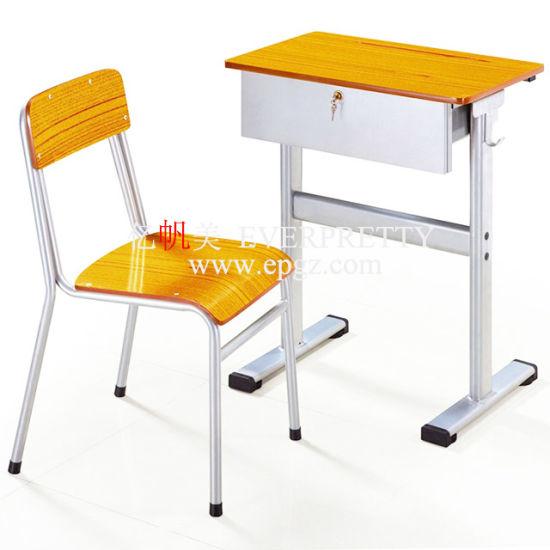 Le mobilier scolaire étudiant ensembles de bureau et chaise, chaise de bureau unique &