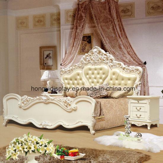 Moderne Schlafzimmer-Möbel-europäische Bett-schöne antike Möbel