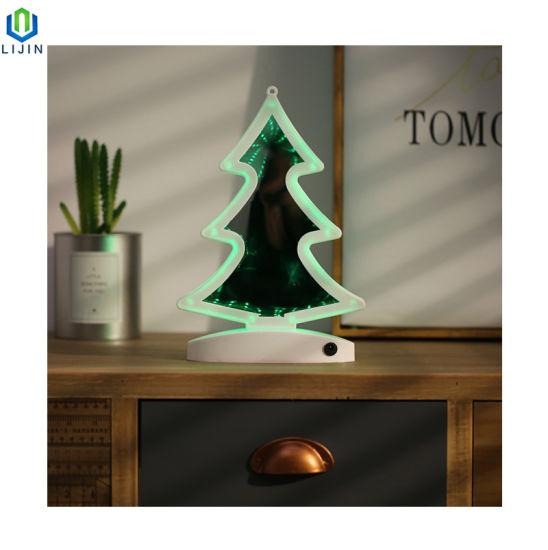 de de China doble del espejo LED cara árbol Luz Navidad La DIEW2beHY9