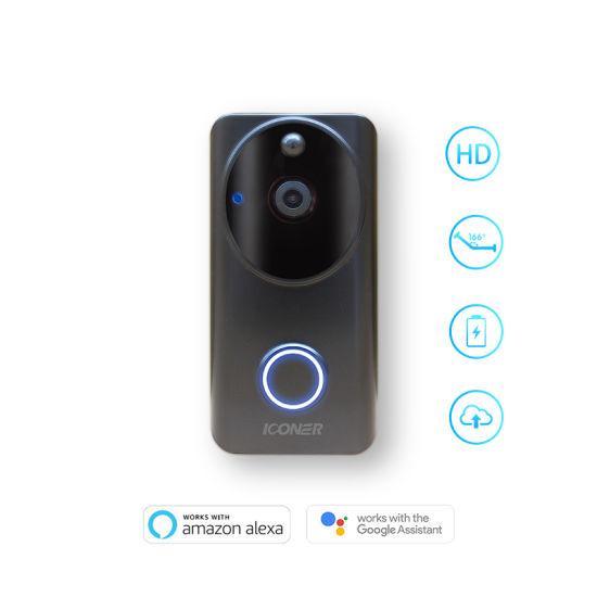 Bague vidéo sonnette 2-Motion Activated vidéo HD 1080p avec construit en wifi