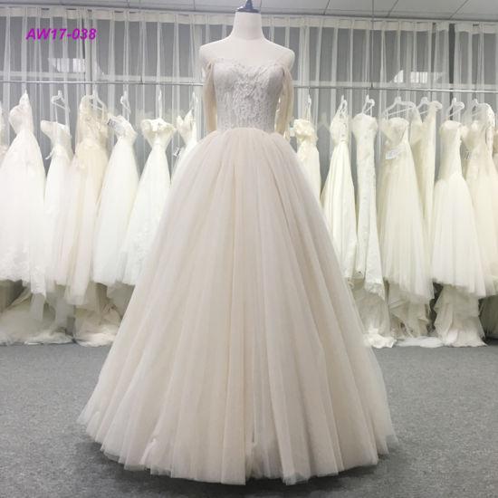 Vestido Nupcial Strapless Elegante Moderno De Vestido Da Princesa Casamento Do Vestido De Esfera Do Corpete Do Laço