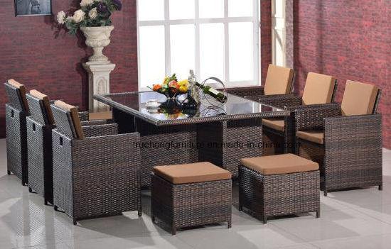 Sillas de comedor al aire libre y la tabla de buena calidad PE ratán  resistente a rayos UV resistente al agua de PVC muebles para exteriores  sillas de ...