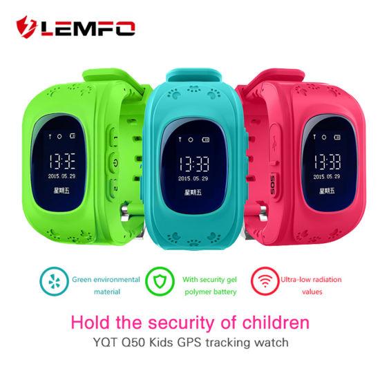 mejor servicio ffc28 dff96 Hot Q50 GPS Relojes de niños Baby Reloj inteligente para niños llamada Sos  Buscador Rastreador Localizador perdió contra el Monitor Smartwatch