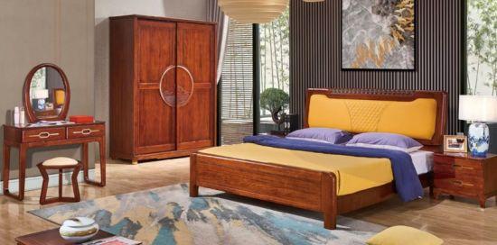 Chine Lit King Size de gros de meubles en cuir orange Royal ...