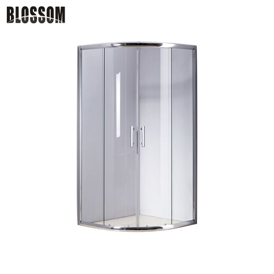 China A Porta De Correr Do Canto Vidro, Corner Shower Curved Glass Doors