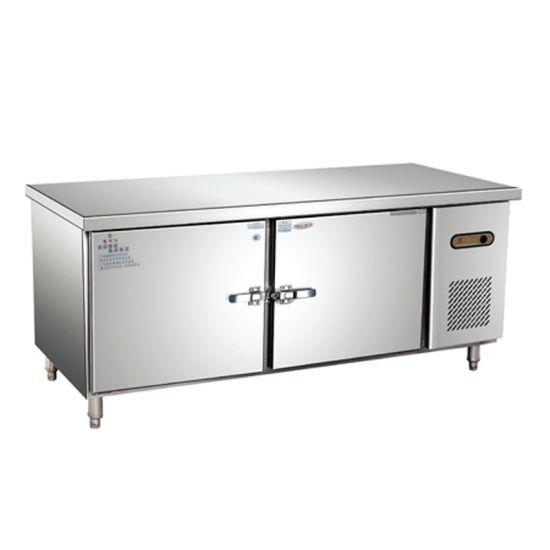 Equipamiento de cocina profesional de acero inoxidable mesa de trabajo  comercial Refrigerador y congelador
