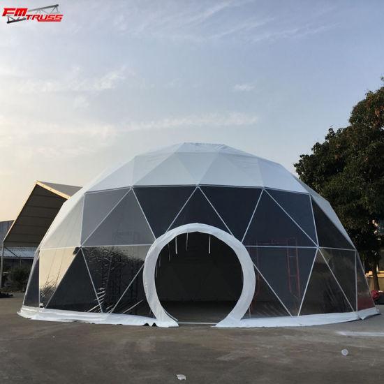 China 10 m Transparentes Zelt für den geodesischen Camping
