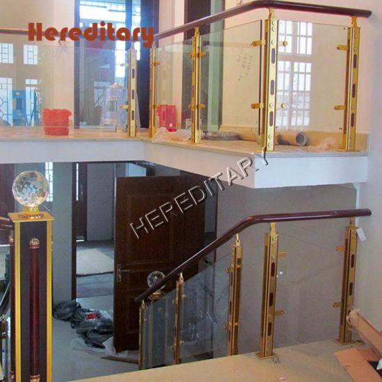 China Barandas De Aluminio Interior Con Paneles De Vidrio