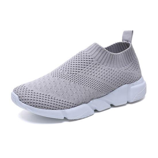 Mode Femmes nouveau style de chaussures de sport de chaussettes de chaussettes tricotées occasionnel Sneakers pour les filles à l'aise et respirante