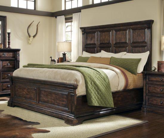 Tissu de bois des meubles en bois de luxe Hotel Chambre avec lit King Size