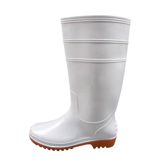 Couleur blanche de bottes de pluie Étanche pour industrie alimentaire