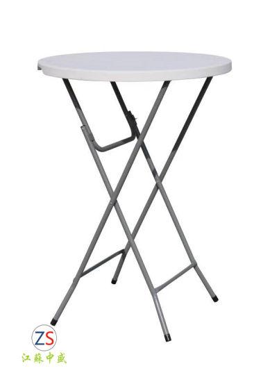 Pied De Table Exterieur.Table Pliante En Plastique Pour L Exterieur Haute Barre De Pied De Table Ronde 80cm