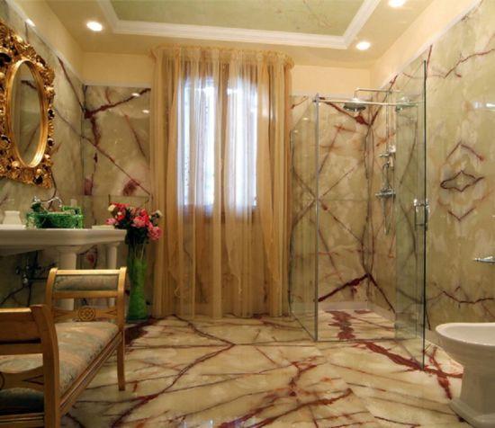 Usine Directement Le Prix Salle De Bains Design Green Onyx Mur En Marbre De La Dalle