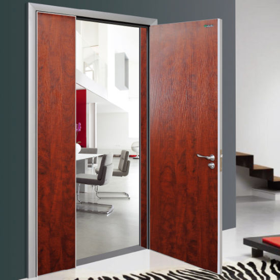 Portes en bois à double entrée Chambre moderne de la conception de la porte