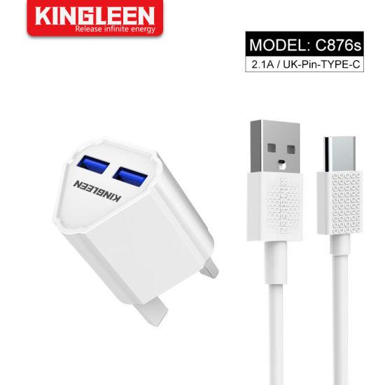Chargeur USB de type C Accueil rapide et chargeur mural USB C Câble de prise UK compatibles Samsung HTC Huawei LG 10 Xiaomi