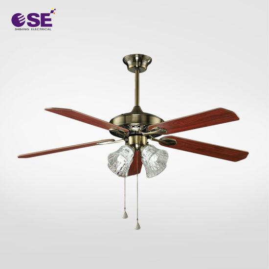 China El costo de metal de 52 pulgadas Ventilador de techo