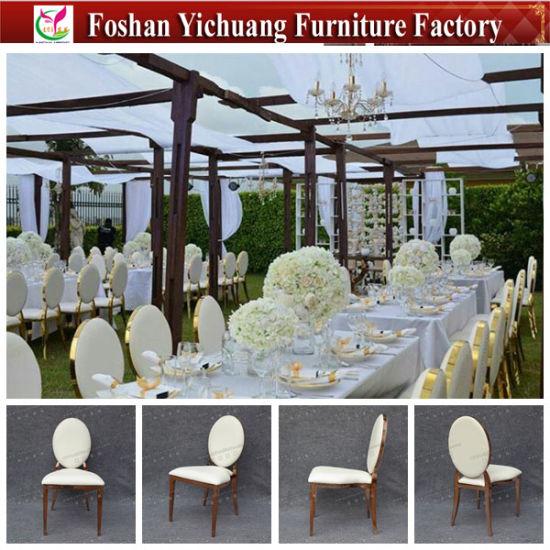 2019 Nouvelle conception Tiffany Chiavari chaise pliante blanche pour mariage et l'événement (YC A333)