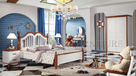 Dernière chambre Dessins et modèles de meubles en bois de modèles de lit  d\'image (SZ-BT9907)