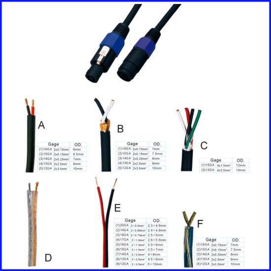 China Enlace Speakon Cables  Speakon M Speakon Hembra