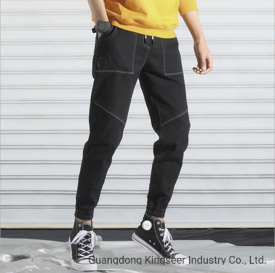 China Mayorista De La Fabrica De Etiqueta Privada Personalizada Jean Pantalones Moda Hombres Pantalon Estrecho La Parte Inferior De La Confeccion De Prendas De Vestir De Tela Del Vestido De Oem Ropa