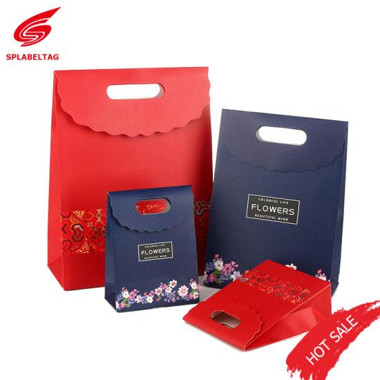bolsas env. Rosa flor ovales sello etiquetas para regalo embalaje Comm