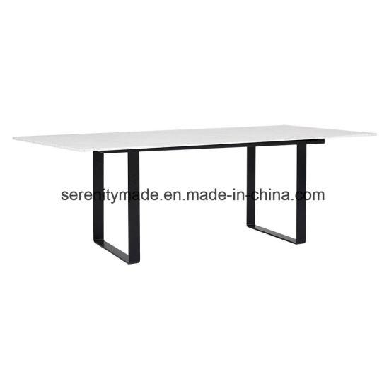 столовая мебель мраморным верхней части обеденный стол с металлической опоры