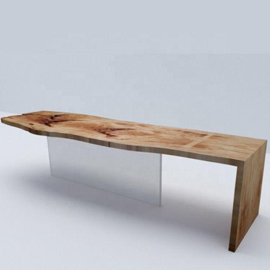 China Madera moderna mesa de comedor madera maciza de canto ...