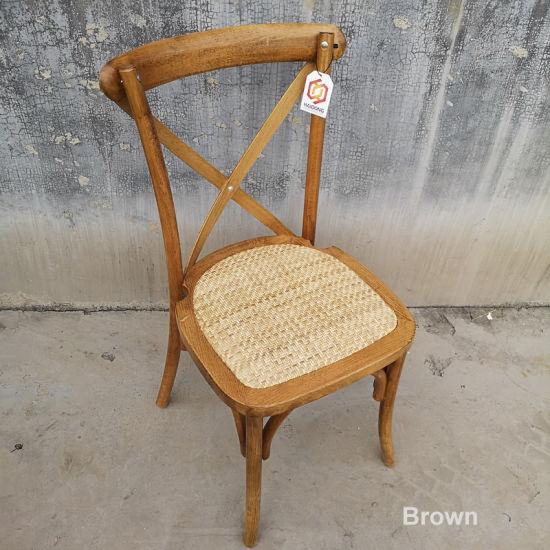 Location de plein air croix de bois empilables mariage Retour chaise de jardin