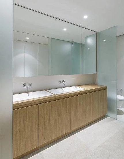 China Cuarto de baño moderno Tocador de melamina muebles ...