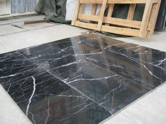 Chine Chinese Nero Marquina de dalles de marbre noir les ...