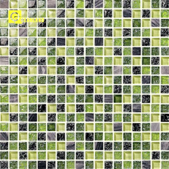 Salle de bain antidérapant carreaux de mosaïque bleu-vert en provenance de  Chine