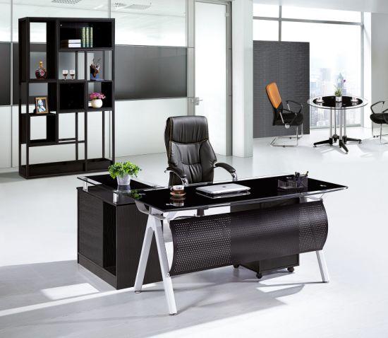 China Mesa ejecutiva de la tabla de la Oficina de vidrio ...