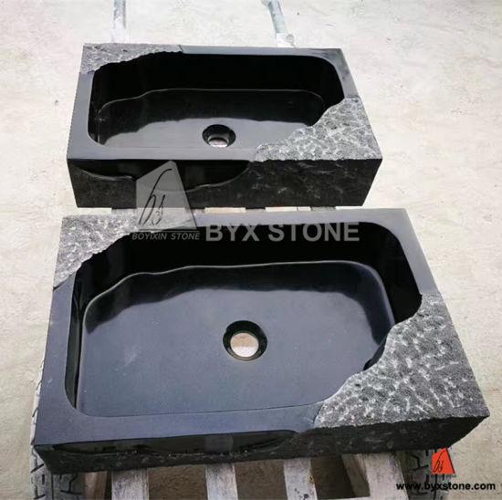 Lavabo Rectangulaire Absolu En Granit Noir Lavabo Rectangulaire En Pierre