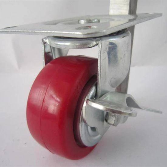 resistentes Ruedas giratorias de goma de 100 mm con ruedas 3 pulgadas 2 W//ruedas de freno 4 unidades 2 W//ruedas giratorias. 3 inch