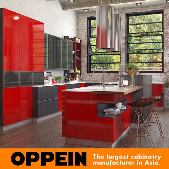 Chine Style Industriel Moderne Rouge Haute Laque Brillante