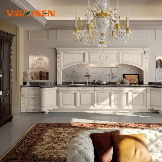 Cina Mobilia di lusso reale della cucina di legno solido ...