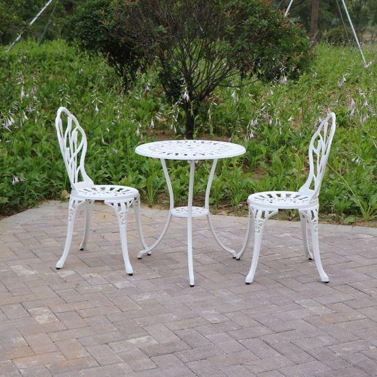 литой алюминиевый сад садовой мебелью 6 Seaters обеденный стол и стулья патио