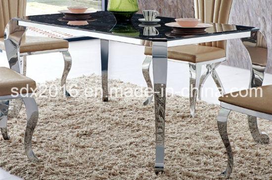 Chine 2016 de haute qualité en marbre moderne Table à manger ...