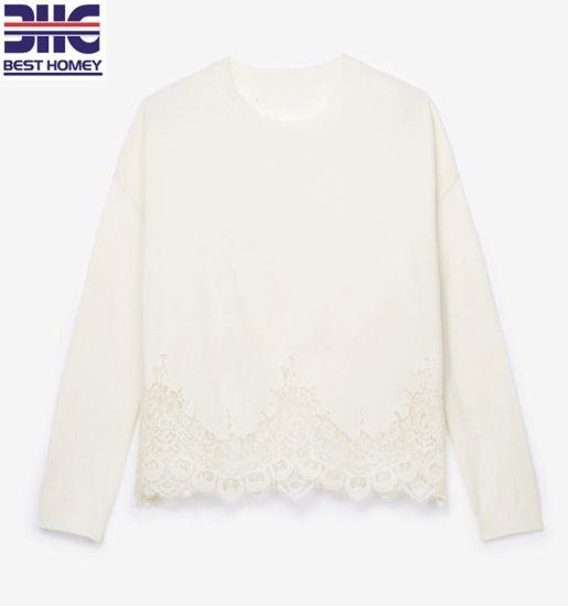 Mesdames chandail blanc crochet  custom