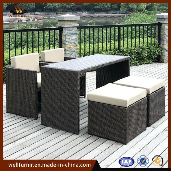 China Patio de mimbre Muebles de Exterior mesa de comedor y ...