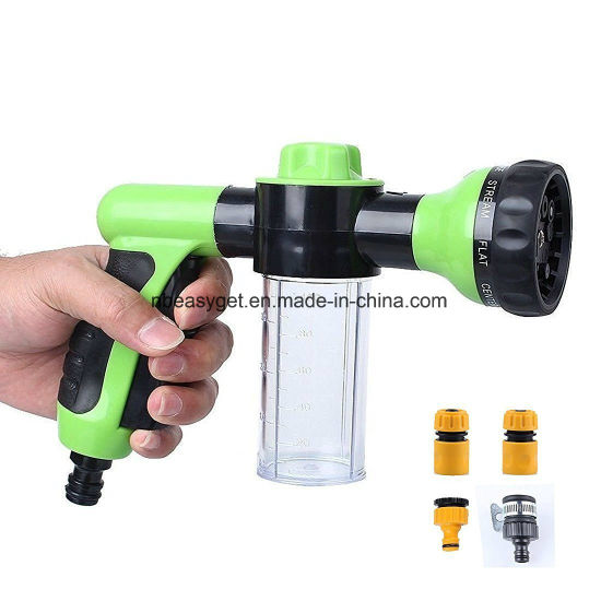 8 patrones ajustables pistola pulverizadora de agua de espuma herramienta de jardiner/ía para regar el c/ésped lavado de coche ducha de mascotas XEMZ Boquilla pulverizadora de manguera de jard/ín